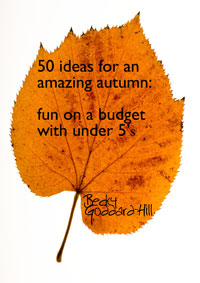 E Book Review – 50 Ideas For An Amazing Autumn, Fun On A Budget With Under 5's by Becky Goddard-Hill