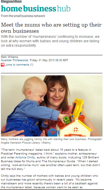 Family Friendly Working in the Guardian