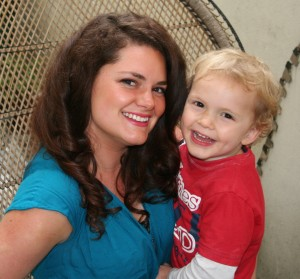 katie and son finley aged 3