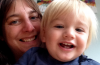 Antonia and youngest son Benji