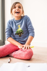 Kids Xmas Jumper with tree for girls or boys