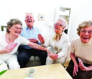 Older ladies having fun