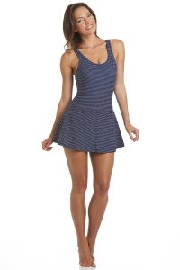 AR3592 Spot Swimsuit White Navy (1)